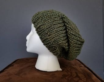 3:16 Knit Slouchy Beanie, Chunky Wool
