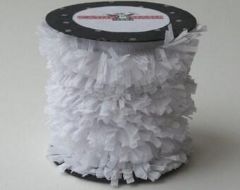 Handmade White Crepe Fringe