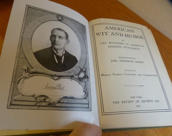 Antiquarian (1907) Book; 'American Wit and Humor' by 100 American Humorists