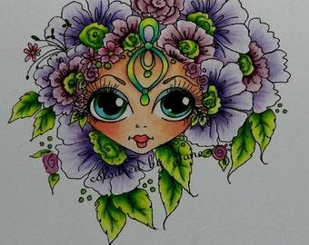 INSTANT DOWNLOAD Digital Digi Stamps Big Eye Big Head Dolls Digi  My Besties Img950 Bloomin Besties TM By Sherri Baldy
