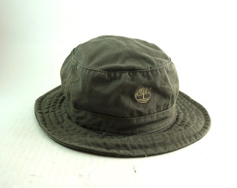 Timberland Gray Bucket Hat // Roll Up Gilligan Hat // Size Medium