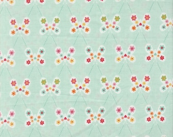Garden Girl - Per Yd - Riley Blake - by Zoe Pearn - Butterflies on Mint