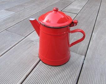Old Red glazed teapot