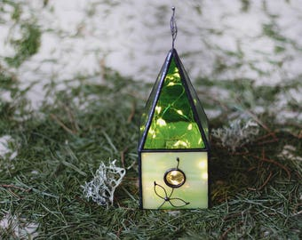 Elven Miniature Houses, Fantasy World Stained Glass House, Medieval Northern Style, Old Europe House, Girls Gift, Architecture