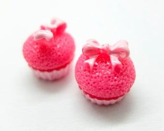 Cute cupcake earrings