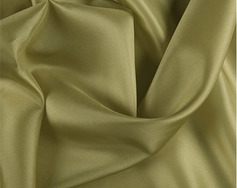 Chartreuse Silk Crepe de Chine, Fabric By The Yard