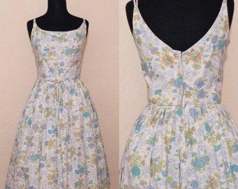 1950's cottage garden dress