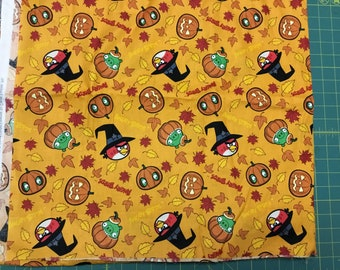 Angry Birds Halloween fabric BTY