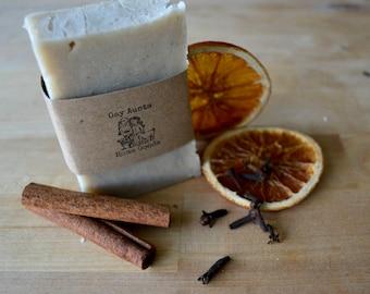 Handmade Soap - Vegan Shea Butter Soap - Orange Spice