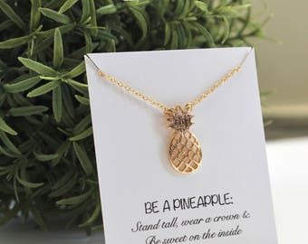 Pineapple necklace/ Bridesmaid necklace/ Pineapple pendant/ Friendship necklace/ Bridesmaid jewelry/ Birthday necklace/ Pineapple jewelry