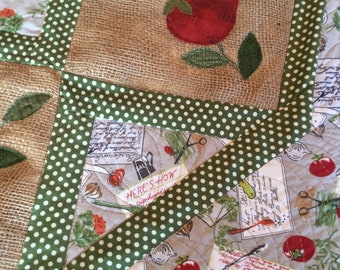 Quilted Table Runner and Tabletopper
