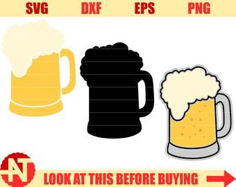 Beer mug svg Beer svg Beer shirt Beer glasses Beer mug clipart Craft beer Svg files for Cricut Silhouette cut files svg dxf eps png