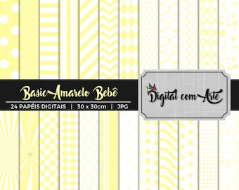 50% OFF - Baby Yellow Digital Paper