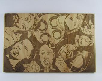 Wu tang clan / method man wood / redman / rza / hip hop for wall decor