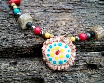 True boho style antler necklace