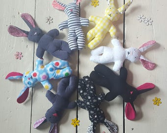 Bunnies / squeaky toys /Christmas stocking fillers/ baby toys / soft toys / baby shower gift / children's gift