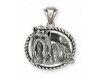 Yorkie Pendant Jewelry Sterling Silver Handmade Yorkshire Terrier Pendant YK292X-VP