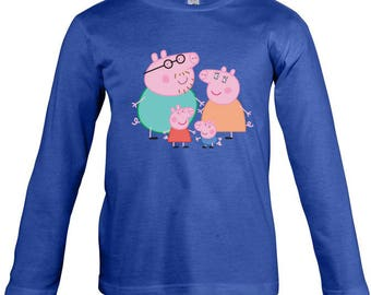 Peppa Pig  Long Sleeves T-shirt for children - available in many sizes and colours