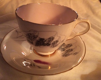 Vintage Old Royal Bone China Teacup and Saucer | Collectible China