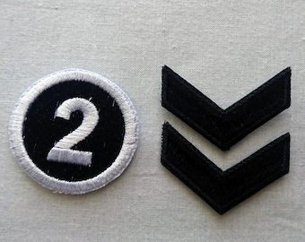 """2nd Year And Collar Chevron Shujin High School Uniform Patch Set Persona 5 Inspired Cosplay Costume Patch Set - h3.5"""" x w4"""""""