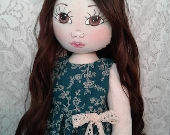 OOAK Soft Sculpture Doll, Cloth Doll, Art Doll