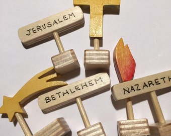 6 Markers for 3D Map of Israel
