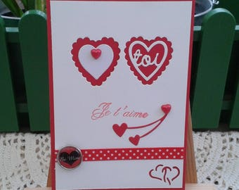 Valentine's day red and white Valentine Day card
