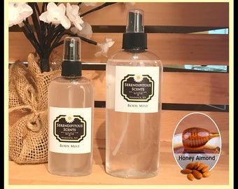 Honey Almond Body Mist, Honey Almond  All Natural Body Mist, Honey Almond  Body Spray, Honey Almond  Room Spray, Honey Almond Linen Spray