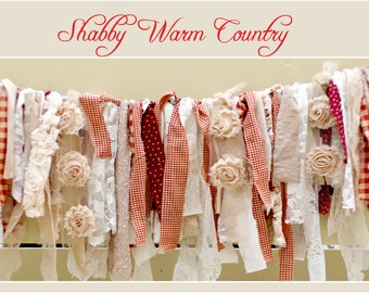 Shabby Warm Country Rag Banner