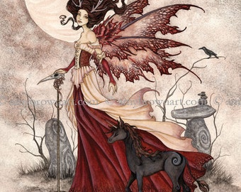 8X10 The Red Queen fairy PRINT by Amy Brown