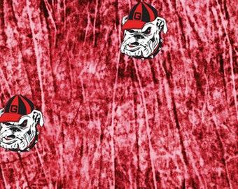 University Of Georgia Bulldogs UG Collegiate Tie Dye  Cotton Fabric 1 Yard Sports Team 100% Cotton