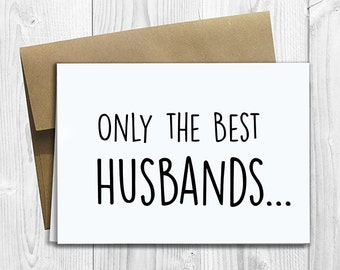 PRINTED CUSTOM Only the Best Husbands Get Promoted to Dad Pregnancy Announcement 5x7 Greeting Card - Cute Expecting Notecard