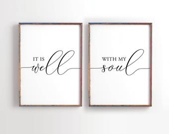 It Is Well With My Soul Printable, Wedding Decor, Wedding Gift, Bible Verse