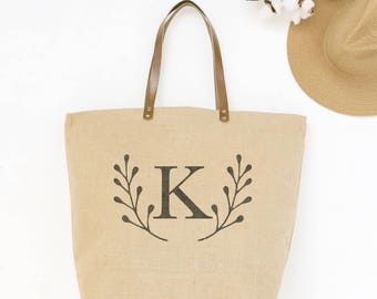 Personalized Bridesmaids Tote Bags | Monogrammed Tote Bags for Bridesmaids | Bridesmaids Tote Bag Set Junior Bridesmaid | Bridal Party Gifts