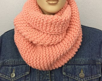 Women Knit Infinity Scarf Women Knit Cowl Chunky Cowl Women Winter Accessories Christmas Gift under 50