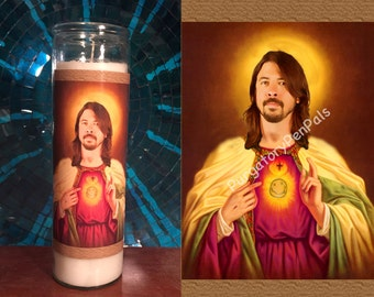 Saint Dave Grohl Prayer Candle / Foo Fighters Votive Candle