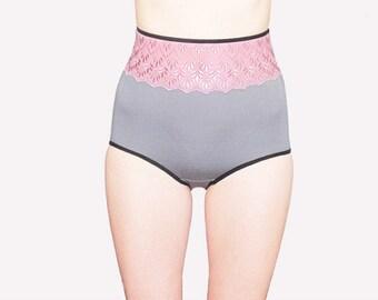 very elegant high waisted panties by Egretta Garzetta underwear