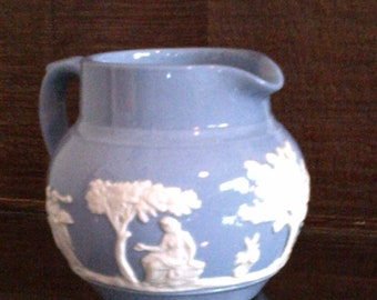 Dudson Hanley England Blue Jasperware Small Creamer