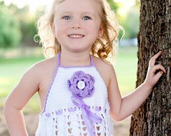 Crocheted Summer Halter Lavender Mist Baby, Girls