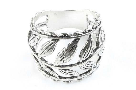 Sterling Silver Vintage Vine Ring, Leaves ring, Leaf Ring, Nature Ring, Boho Ring, Gypsy Ring