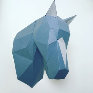 Horse mask etsy horse papercraft you get a pdf digital file with templates pattern and instructions solutioingenieria Image collections