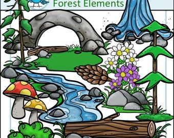 Forest Images Clip Art Set - Chirp Graphics