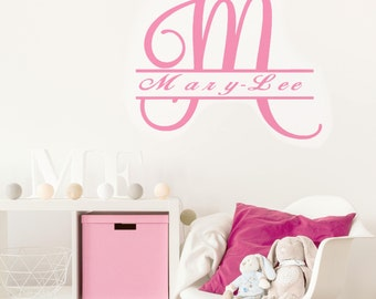 wall appliques decoration, furniture appliques decoration , sticker, decal, nursery, bedroom,, living  NAME LETTER M