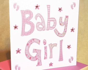 Baby Girl Card  (jewelled)