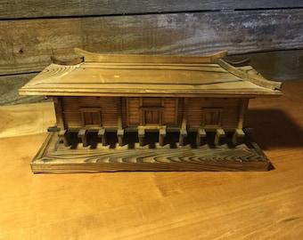 Wooden Pagoda Jewelry Box