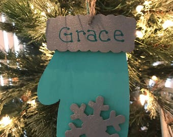Hand-painted Wood Ornaments with FREE Personalization