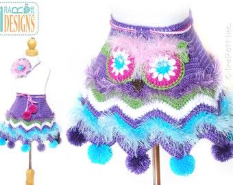 CROCHET PATTERN Fiesta Owl Skirt and Headband Crochet PDF Pattern with Instant Download