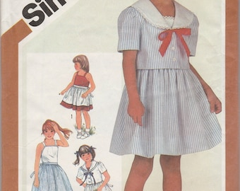 Darling Girls' Sun Dress & Jacket Pattern Simplicity 5863 Size 5