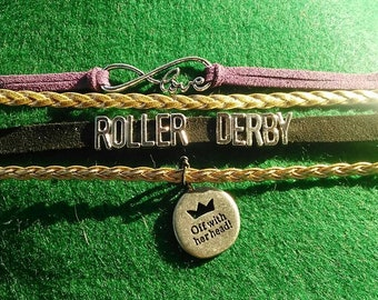 roller derby bracelet