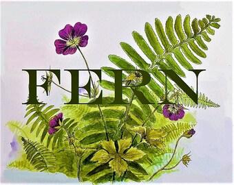 Fern Perfume Mist or Oil 1/2 oz.  Botanical Perfume, Fresh Perfume, Green Perfume, Herbal Perfume, Natural Perfume, Forest Perfume